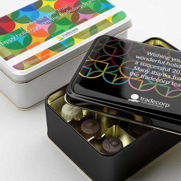 Chocolate Box Product Label Design